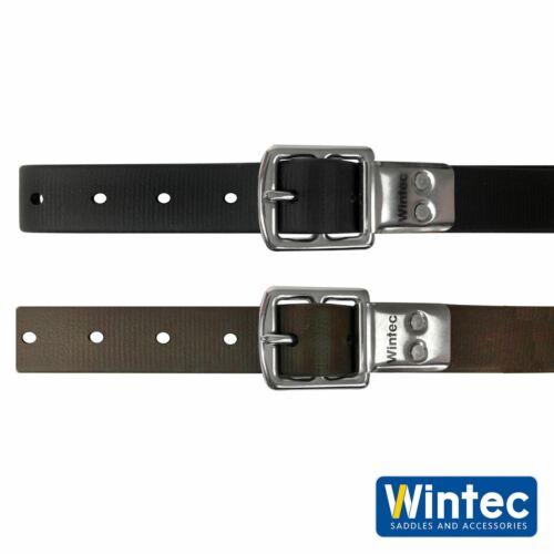 Wintec Slim Line étrier bretelles No stretch slim cuir noir//marron