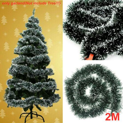5PCS Chrismas Green Chunky Tinsel XmasTree Decoration Garland Tie Wraps 6.5Ft UK
