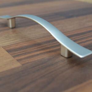 Details zu Matt NICKEL MÖBELGRIFF BA 96 mm Elegant matt Ausführung GRIFFE  Küche HANDLE NEW
