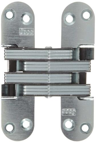 Zinc Soss 218Us26D Mortise Mount Invisible Hinge With 8 Holes Satin Chrome Fin