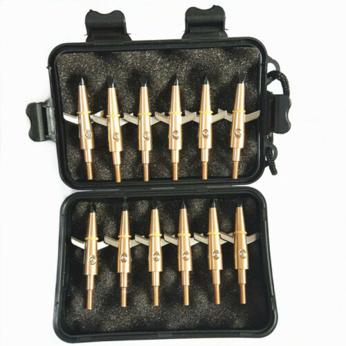 12Pcs Hunting Swhacker Broadhead 100 Grain Compound Bow Crossbow Shooting Point