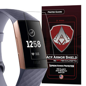 THE ORIGINAL ACE ARMOR SHIELD SCREEN PROTECTOR FOR THE FITBIT CHARGE 3 (8 PACK)