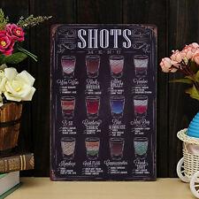 Coffee Menu Metall 20*30 Blechschild Poster Pub Bar Cafe Shop Home Wand-Dekor