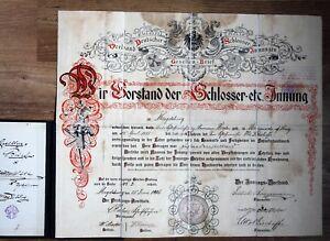 Gesellenbrief-SCHLOSSER-Magdeburg-1906