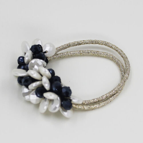 Oval Acrylic Beads Elastic Hair Accessories Band Ring Rope Ties Ponytail Holder