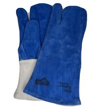 1 Pair Xl Heavy Duty Reinforced Leather Welding Gloves Mitten Style Dupont