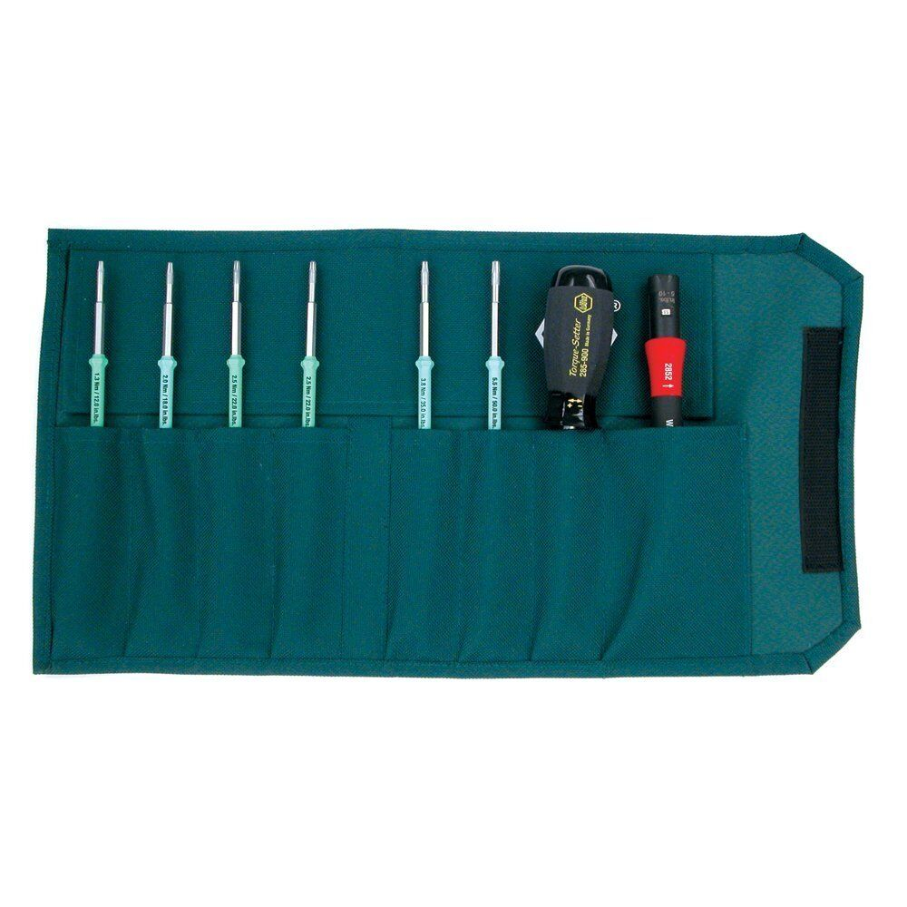 Wiha 28598 TorqueControl Set with TORX Plus Blades in Pouch, 8 Piece