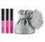 New-M-A-C-Mac-MINI-LIPGLASS-KIT-3-Little-Lip-Gloss-WITH-POM-POM-Bag thumbnail 1
