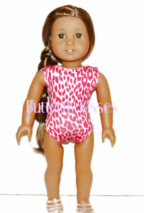 Leopard-Print-Swimsuit-Bathing-18-in-Doll-Clothes-Fits-American-Girl-P
