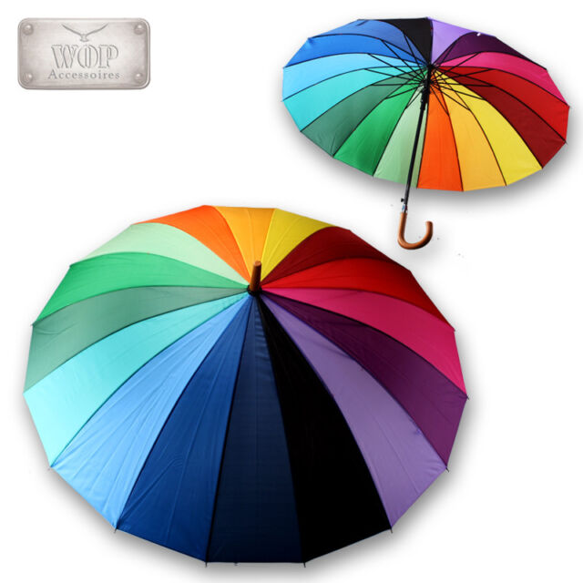 Schirm Sturmsicher Regenschirm Sonnenschirm Stockschirm Partnerschirm REGENBOGEN