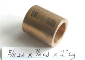 Oilite Bushing Bronze New 3//8 id x 1//2 od x 5//8 Brass bush sleeve spacer bearing