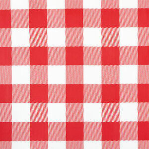 Genial Image Is Loading RED Amp WHITE GINGHAM DESIGN PVC VINYL WIPE