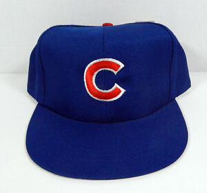 b895f3981df Vintage Chicago Cubs Blue Logo Childs Snapback Hat American Needle ...