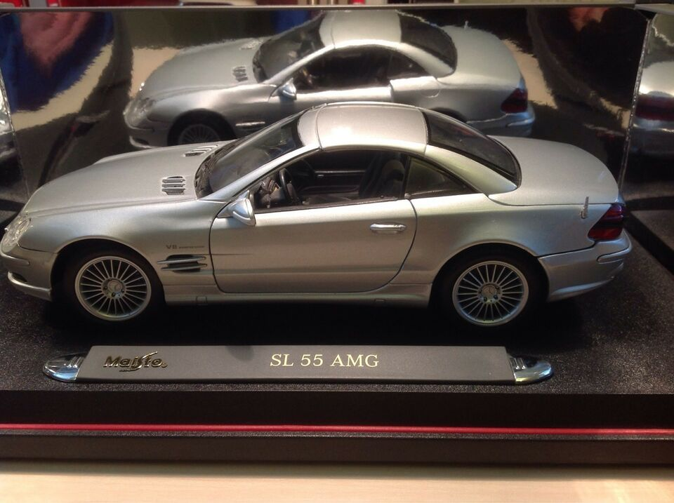 Modelbil Mercedes Benz 55 SL AMG Coupe, skala 1:18