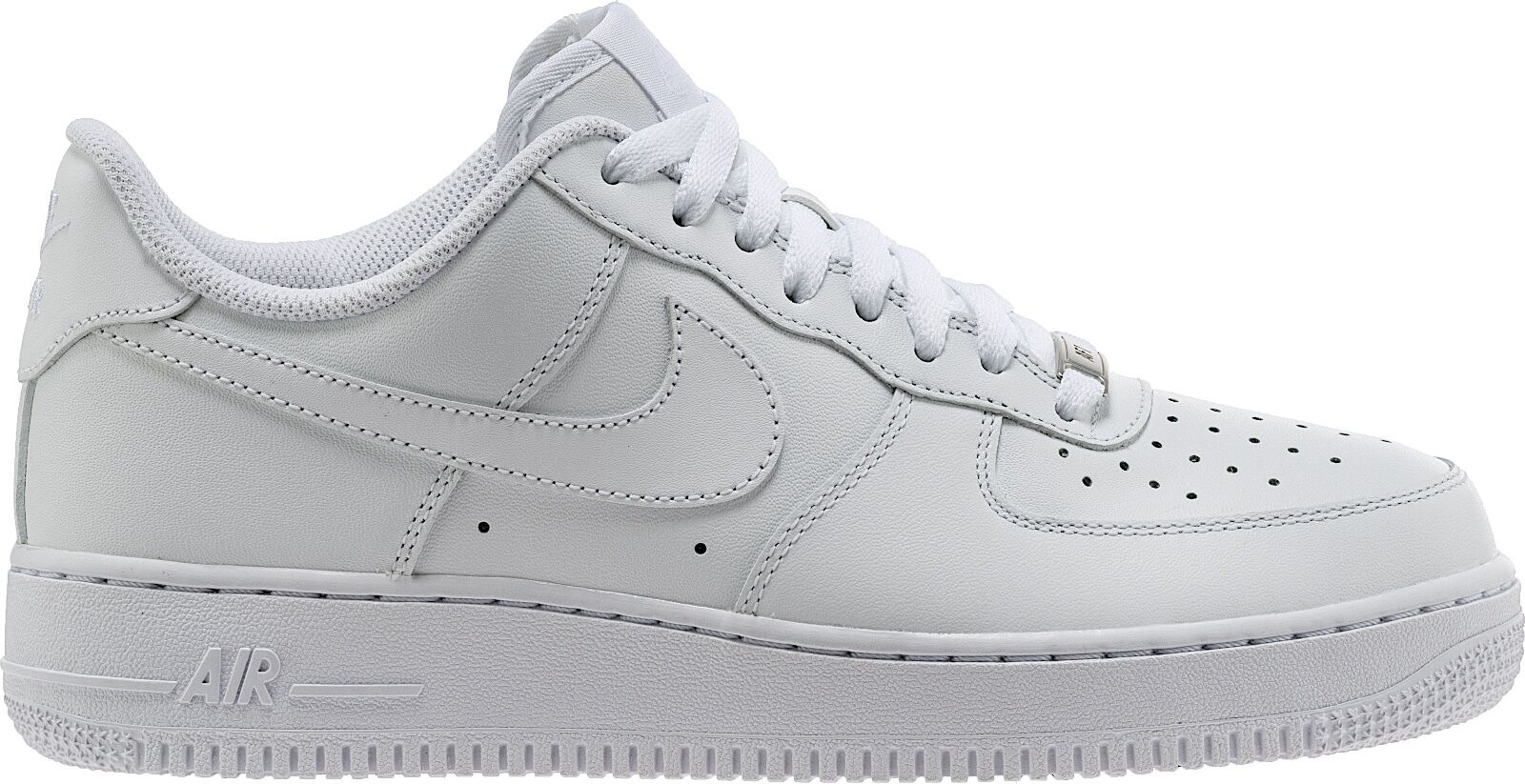 NIKE AIR FORCE 1 LOW Uomo CLASSIC OG WHITE ALL LEATHER 315122-111 100% AUTHENTIC