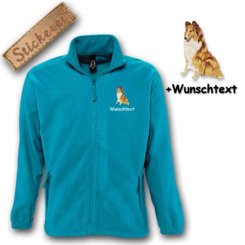 M1 texto Chaqueta personalizado bordado bordado perro Collie individual de lana BYUTq