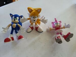 Sonic The Hedgehog Tails Amy Rose Toy Island Bendable 3 Figure Rare 2000 Ebay