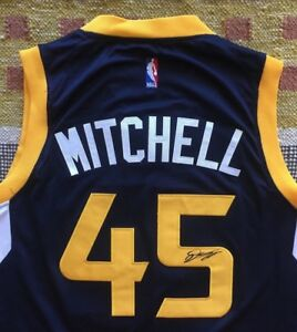 more photos ca6ef 12664 Details about Donovan Mitchell Signed Autograph Utah Jazz Jersey NBA  Louisville PROOF