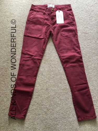 Current Elliott The Conductor Jean In Pinot Noir  RRP£250 BNWT