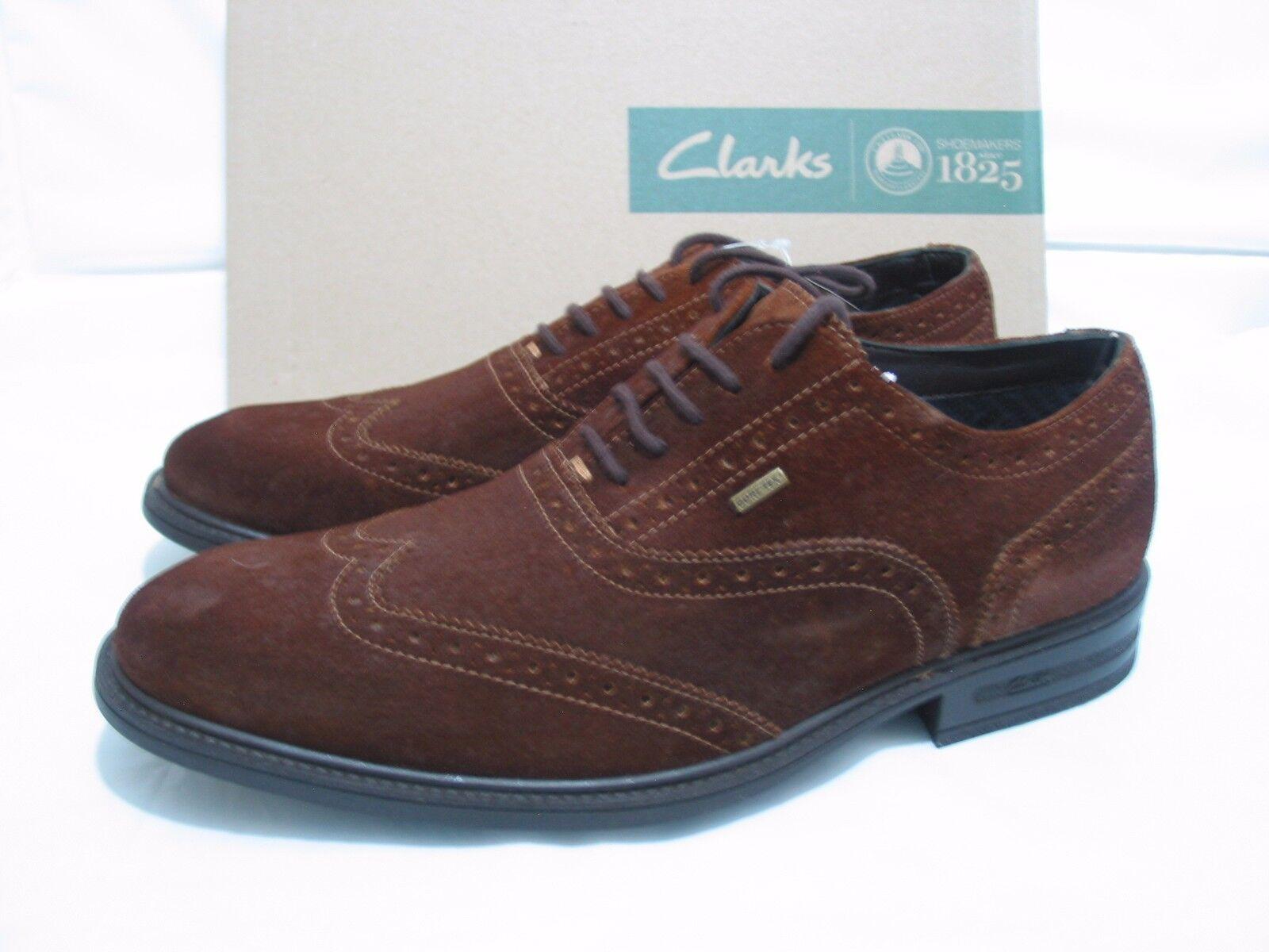 9d9005a9f Nuevo Para hombres hombres hombres CLARKS otoño duro GORETEX Cuero Calado  Zapatos Talla 7 G Fit