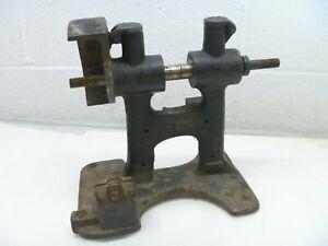 Bench-Grinder-Base-Cast-Iron-Belt-Pulley-Driven-Vintage-Antique-As-Is