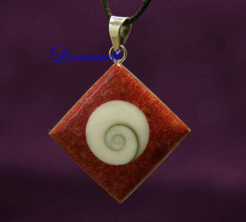 Shiwa-ojo remolque con schaumkoralle en plata 925