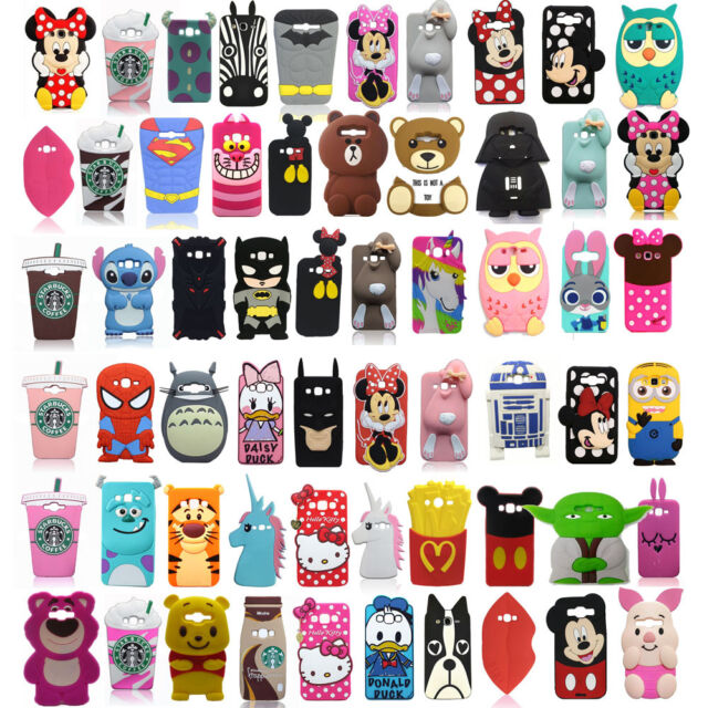 3D Cartoon Silicone Phone Case Cover For Samsung Galaxy J5 J7 2015 S7 Edge HTC
