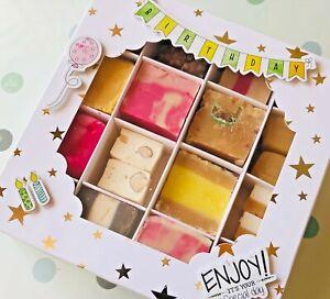 Happy-birthday-fudge-gift-box-Candy-Box-Handmade-Fudge-Pick-N-039-Mix-Jellies