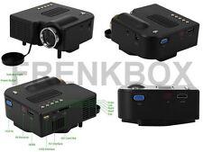 Mini Proiettore Portatile a LED Videoproiettore Full HD 1080p VGA/USB/SD/AV/HDMI