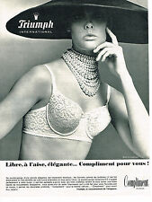 PUBLICITE ADVERTISING 014   1965   TRIUMPH   soutien gorge COMPLIMENT 2