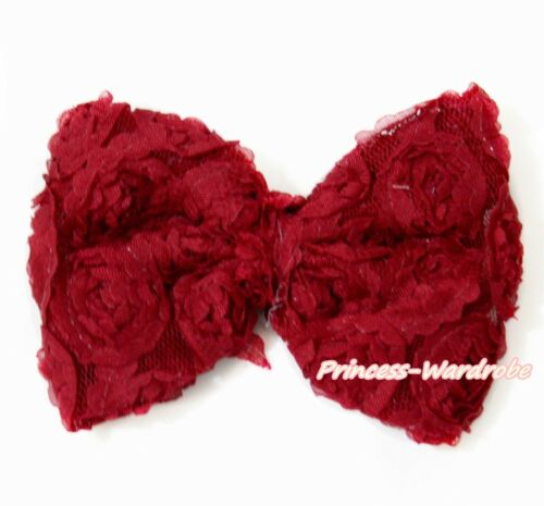 Optional Multi Solid Floral Romantic Rose Flower Kid Baby Girl Hair Pin Clip Bow