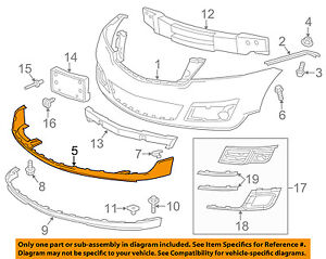 Chevrolet    GM OEM 1317 Traverse Front Bumper GrilleLower