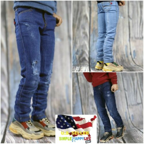 """1//6 Ripped /& Distressed Jeans slim for 12/"""" male figure hot toys phicen ❶USA❶"""