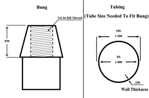 ECONOMY PANHARD BAR KIT 3//4 x 3//4-16 HEIM JOINTS 3//4-5//8 HMS BUNG .250