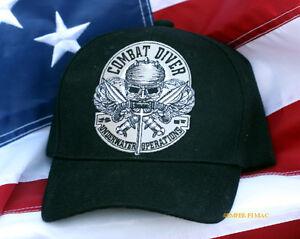 4e633194636 COMBAT SCUBA DIVER HAT US ARMY NAVY AIR FORCE MARINES USCG CAP PIN ...