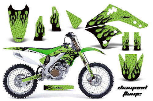 Dirt Bike Graphics Kit MX Decal Wrap For Kawasaki KX250F 20062008 DMNDFLAME K G