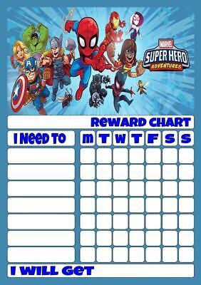 LEGO SUPERHEROES REWARD CHART free stars /& pen 3 Sizes Magnetic option