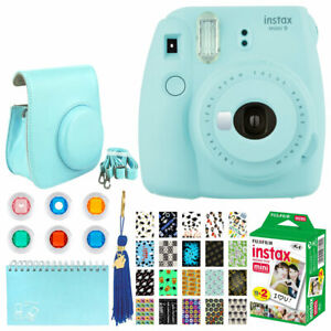 Fujifilm-Instax-Mini-9-Instant-Camera-Ice-Blue-Instax-20-Graduation-Kit