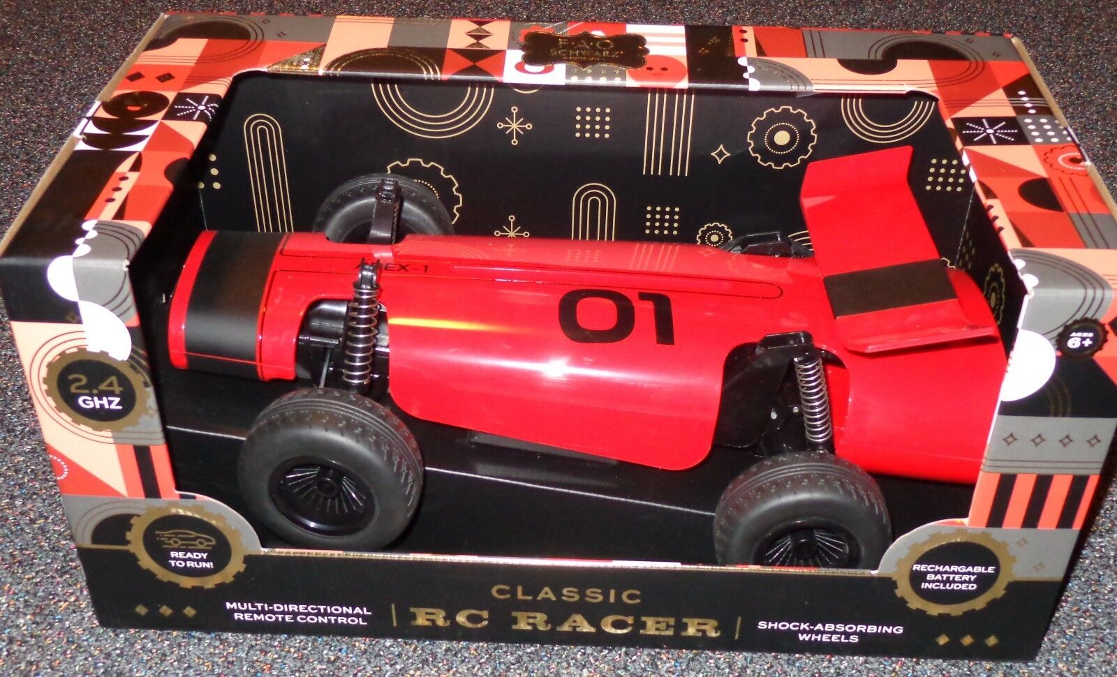 Genuine Authentic Apex 1 Remote Control Car by FAO black NEW - Retail  99