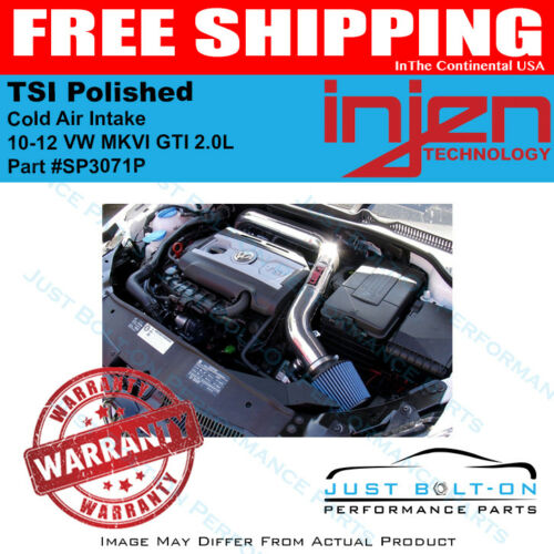 Injen Fits 10-12 VW MKVI GTI 2.0L TSI Polished Cold Air Intake SP3071P