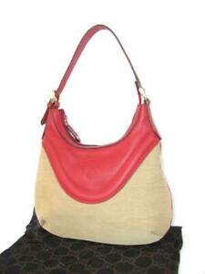 d4b67b48d77 Image is loading Authentic-Gucci-Canvas-Leather-Hysteria-Small-Hobo-Bag-