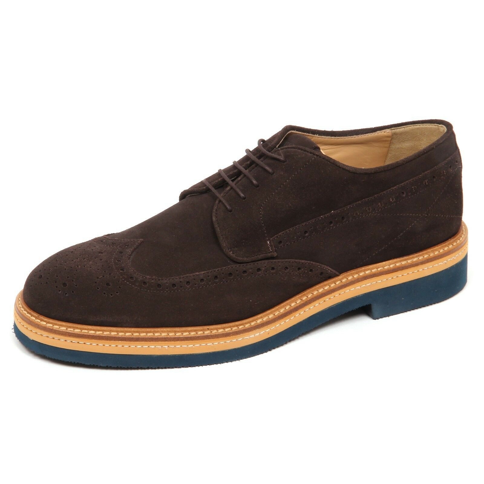 E4612 scarpa inglese suede uomo brown SAX scarpe suede inglese shoe man 237711