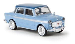 Brekina-22208-1-87-FIAT-1200-034-GRAND-LUCE-034-Hell-bleu-fonce-de-batteur-Neuf