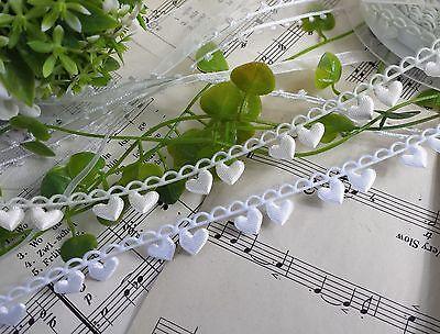 1m Satinband Herz Schleifenband Borte Hochzeit Taufe Scrapbooking Herzen