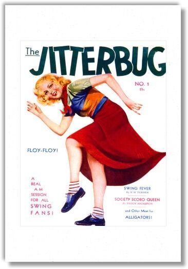 Jitterbug vintage magazine cover dancing swing retro cool Fine Art Poster Print