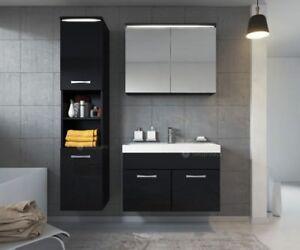 Modern Bathroom Wall Mounted Vanity Unit Storage Cabinet Sink Mirror