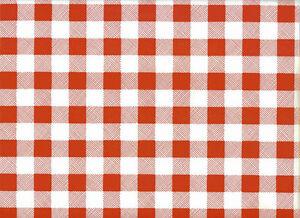Mantel Hule Por Metro Pequeño A Cuadros Vichy A Cuadros Rojo Lavable