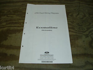 1994 ford econoline van e150 e250 wiring diagram schematic. Black Bedroom Furniture Sets. Home Design Ideas