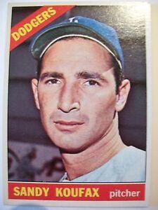 1966-TOPPS-BASEBALL-100-SANDY-KOUFAX-Card-Los-Angeles-Dodgers