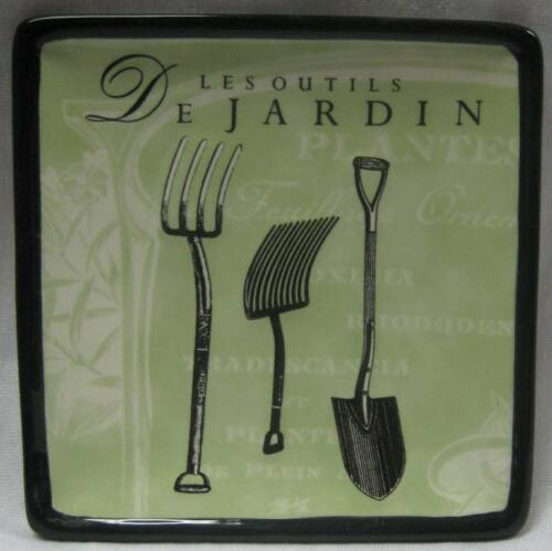 Set of 4 Collectable Mini Plates French Provincial Jardin Les Outils Gardening